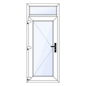 kunststof achterdeur met bovenlicht