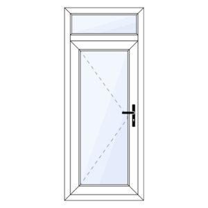 kunststof achterdeur met bovenraam