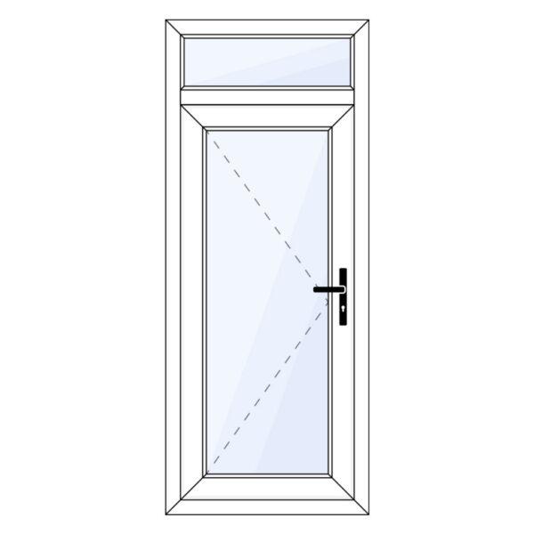 kunststof achterdeur met bovenlicht op maat kopen