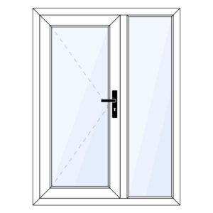 kunststof achterdeur met zijraam