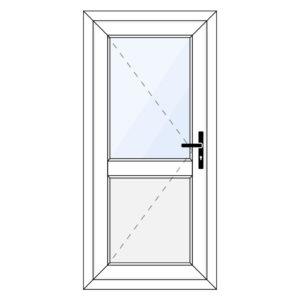 Kunststof achterdeur met paneel
