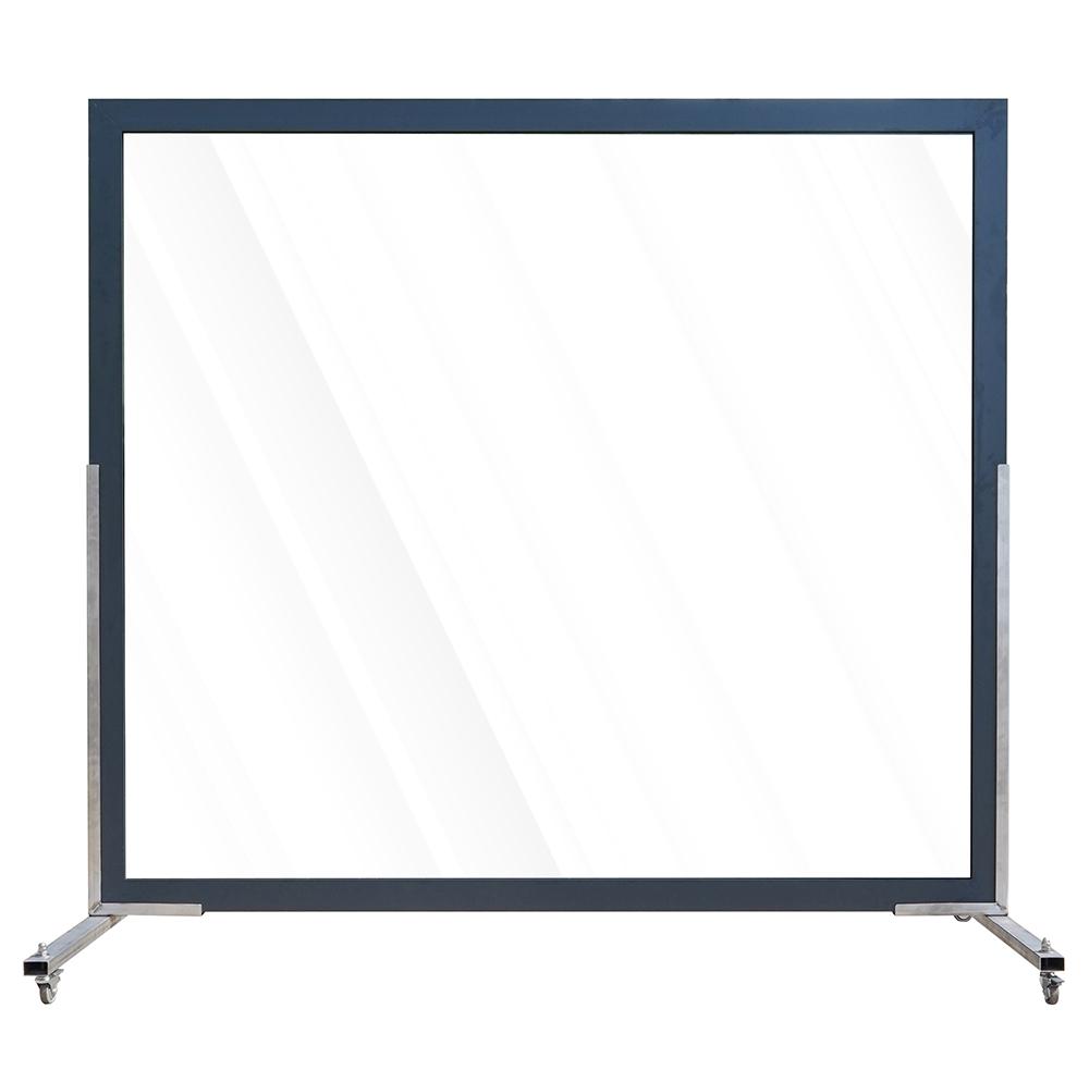 Aluminium scherm volledig veiligheidsglas