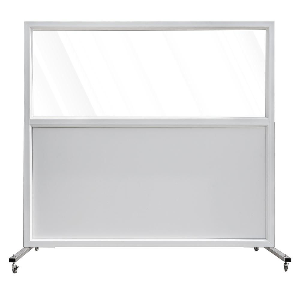 Kunststof scherm met paneel en veiligheidsglas