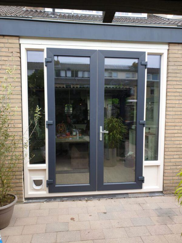 dubbele achterdeur met zijlichten 5 antraziet deuren