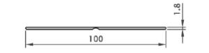 Afwerkprofiel strip 100 mm breed wit lengte 6 mtr