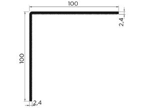 Afwerkprofiel hoeklijn 100/100 wit lengte 6 mtr