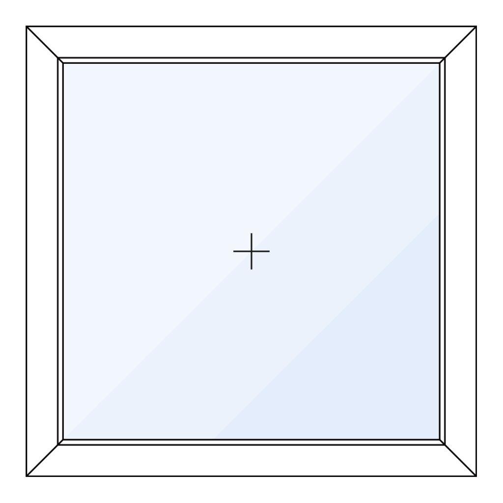 Vast glas kozijn – 1 vak
