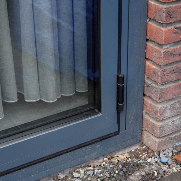 Schanieren buitenzijde aluminium harmonicadeur