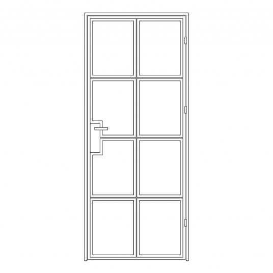 Stalen binnendeur type A