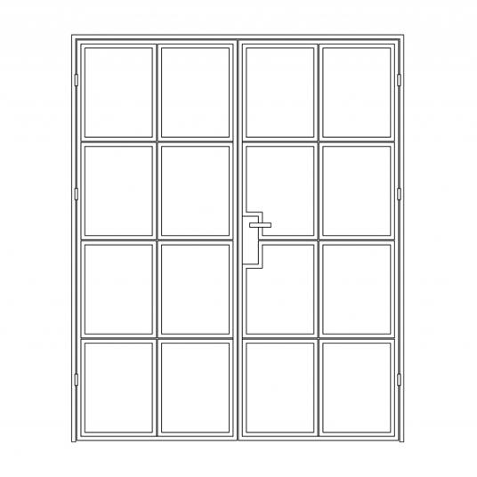 Stalen binnendeur type A4