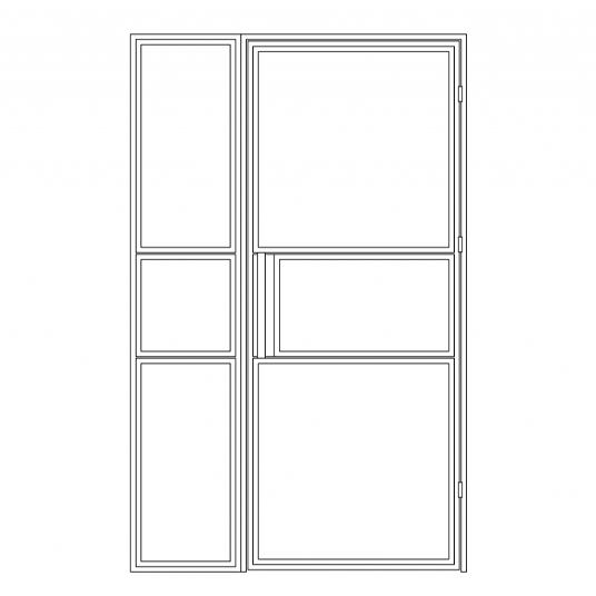 Stalen binnendeur type B3