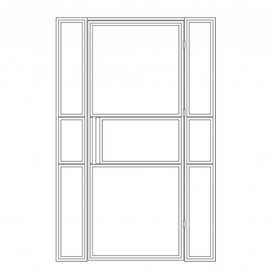 Stalen binnendeur type B5