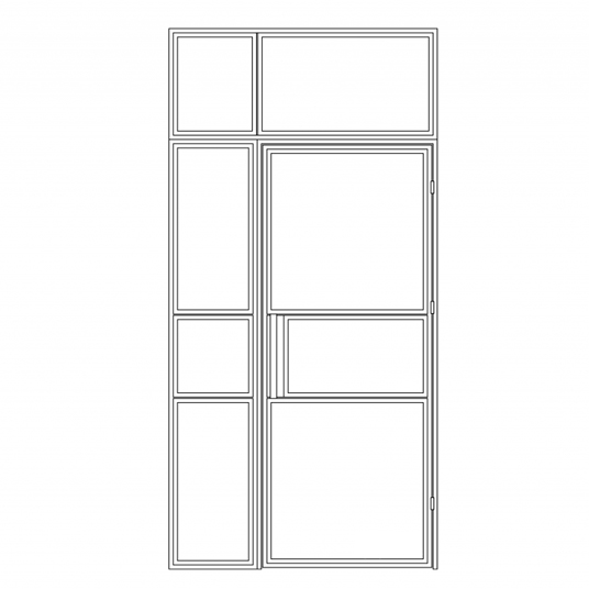 Stalen binnendeur type B6