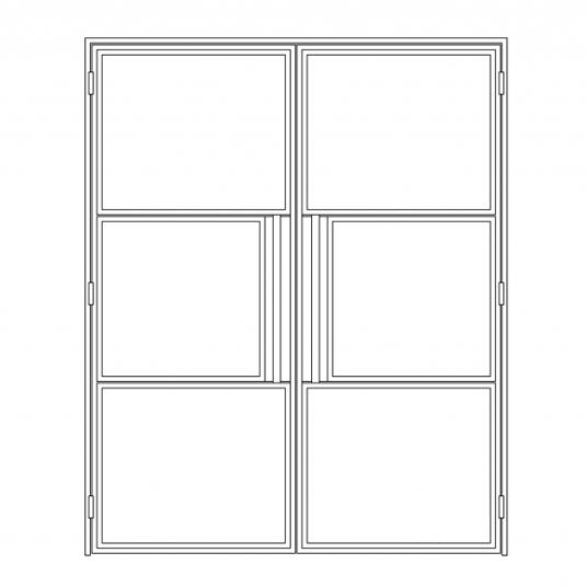 Stalen binnendeur type C4