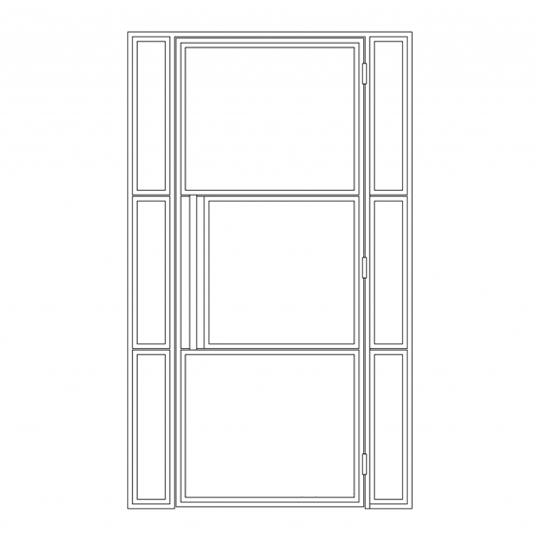 Stalen binnendeur type C5