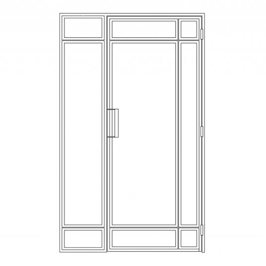 Stalen binnendeur type D3