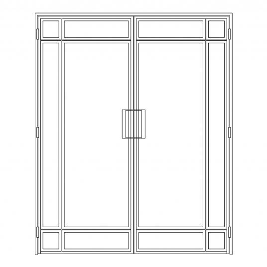 Stalen binnendeur type D4
