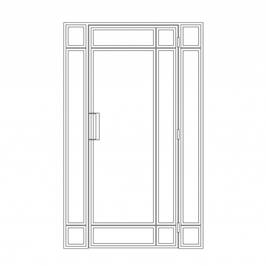 Stalen binnendeur type D5