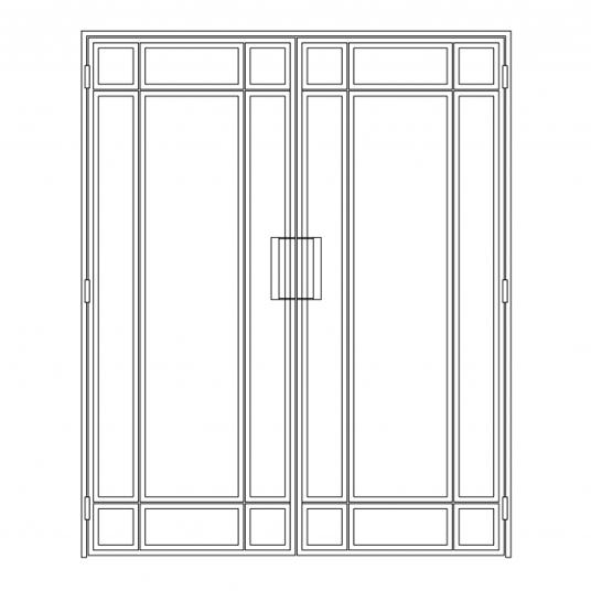Stalen binnendeur type E4