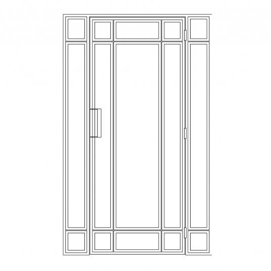 Stalen binnendeur type E5