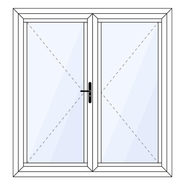 aluminium vouwwand 2 delig als tuindeur op maat kopen