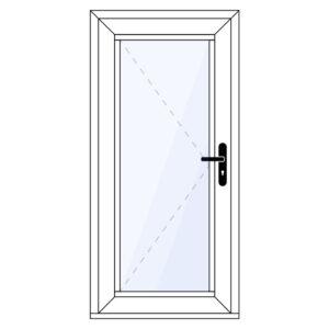 Aluminium achterdeur