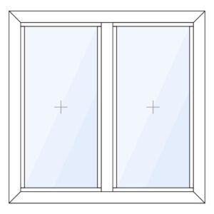 Aluminium glasvak kozijn verticaal | 2-vaks