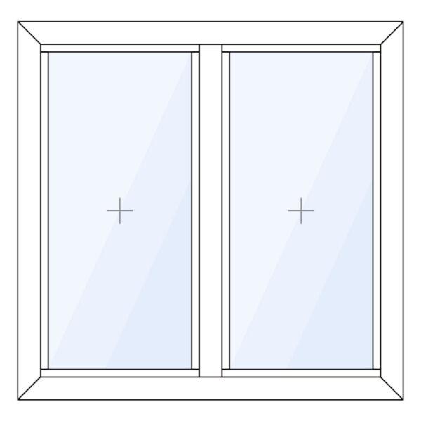 aluminium glaskozijn verticaal 2 vaks