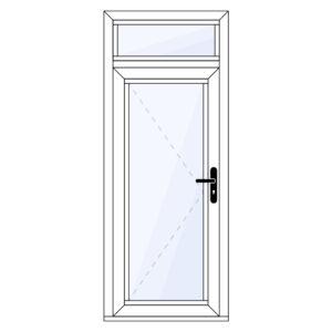 Aluminium achterdeur met bovenlicht