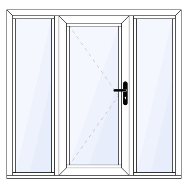 aluminium achterdeur met twee zijlichten op maat kopen