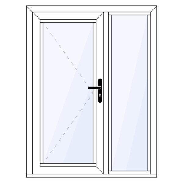 aluminium achterdeur met zijlicht op maat kopen