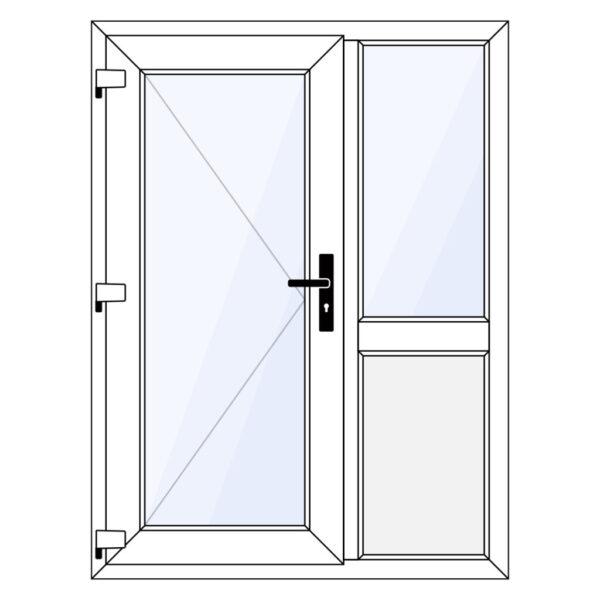 kunststof voordeur met zijlicht en borstwering op maat kopen