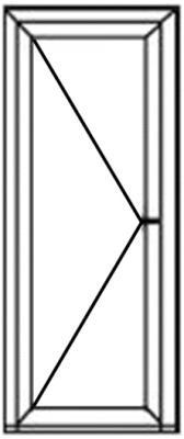 Voordeur glas V1