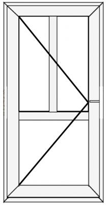 Voordeur met borstwering en stijl V2